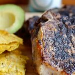 Colombian Coffee Crusted Pork Chops