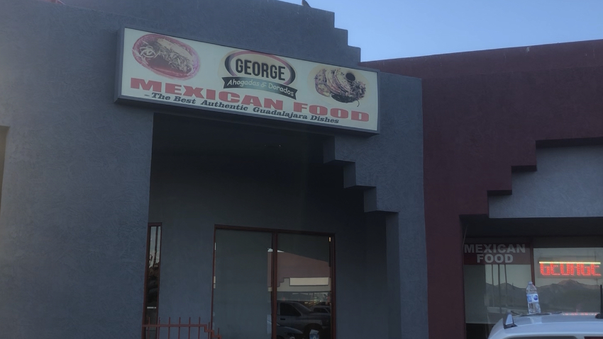 The sign on the building says it all --- they've got the best Guadalajara food in the Valley --- the restaurant can be found at 9550 W. Van Buren in Tolleson, AZ
