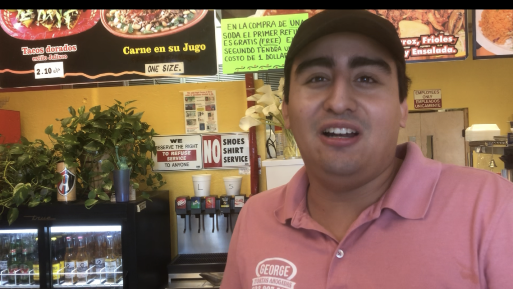 Abraham Santoyo talks with HFNTV --- about how his Dad George --- started the restaurant.