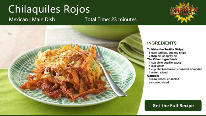 Chilaquiles Rojos - Red Chilaquiles Recipe Card