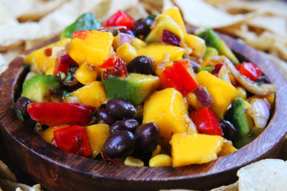 Mango Salsa with Black Beans Recipe