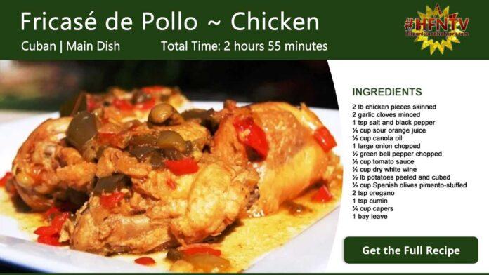 Pollo en Fricase ~ Chicken Fricassee Recipe Card