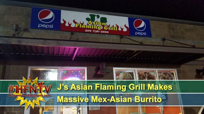 J's Asian Flaming Grill Makes Massive Mex-Asian Burrito