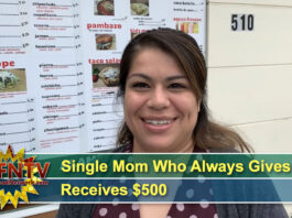 Single Mom Who Always Gives Back Receives $500