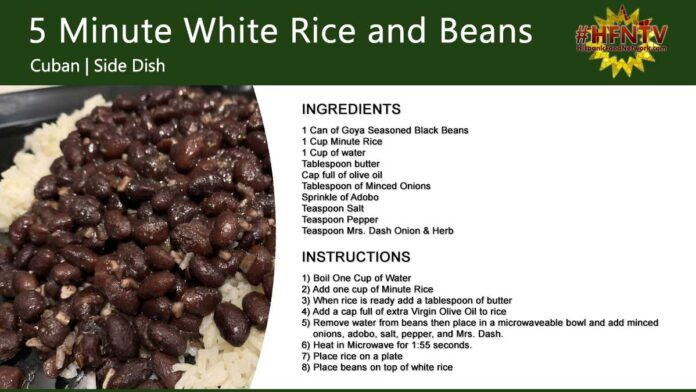 5 Minute White Rice and Beans