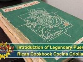 Introduction of Legendary Puerto Rican Cookbook Cocina Criolla
