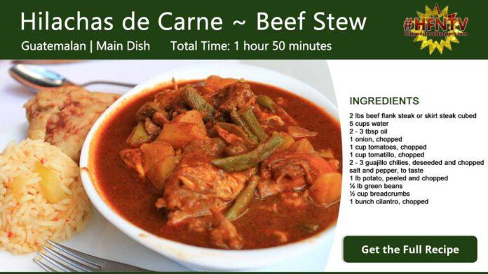 Hilachas de Carne ~ Shredded Beef Stew