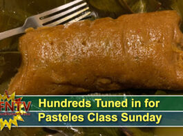 Hundreds Tuned in for Pasteles Class Sunday, Sign up for Sofrito Class!