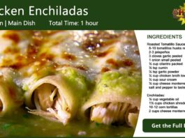 Chicken Enchiladas with Roasted Tomatillo Sauce