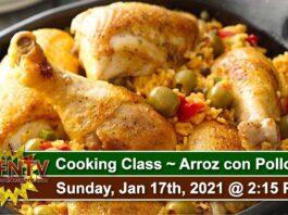 Cooking Class ~ Arroz con Pollo ~ Jan 17, 2021