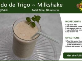 Batido de Trigo ~ Cuban Wheat Milkshake