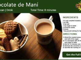 Chocolate de Maní Caliente ~ Hot Peanut 'Cocoa' Recipe Card