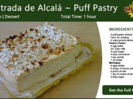 Costrada de Alcalá ~ Puff Pastry Recipe Card
