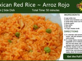 Mexican Red Rice ~ Arroz Rojo