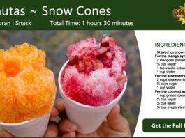 Minutas Salvadoreñas ~ Snow Cones Recipe Card