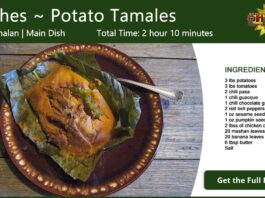 Paches ~ Potato Tamales Recipe Card