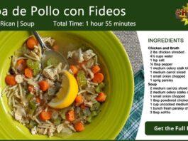 Sopa de Pollo con Fideos - Chicken Noodle Soup