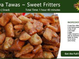 Tawa Tawas ~ Sweet Fritters Recipe Card