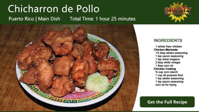 Chicharron de Pollo ~ Fried Chicken Recipe Card