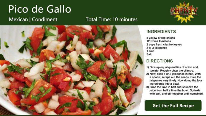 Pico de Gallo Recipe Card