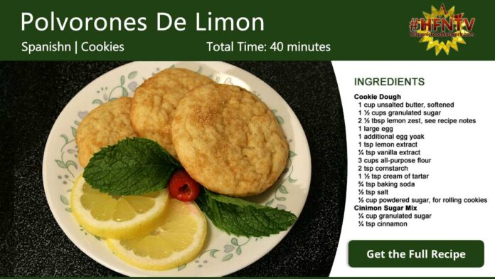 Polvorones De Limon ~ Spanish Lemon Cookies Recipe Card