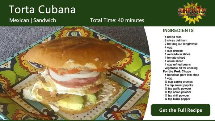 Torta Cubana Recipe Card