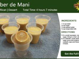 Limber de Mani ~ Peanut Butter Ice Recipe Card